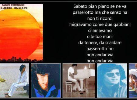 """Claudio Baglioni – Sabato pomeriggio """"1975"""""""