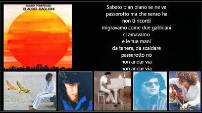Claudio Baglioni – Sabato Pomeriggio